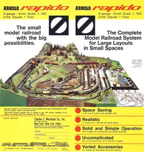 The Birth of N Scale: Arnold 1966/67 Leaflet