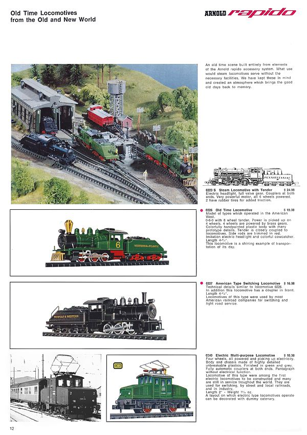 The Birth of N Scale: Arnold 1967/68 US Catalog